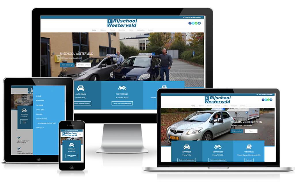 Referentie Website Rijschool Westerveld
